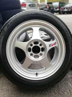 Regamaster 15 inch sports rim saga flx tyre 70%. Makan durian udang merah, jarang jarang orang cakap rim ni tak meriah!!!