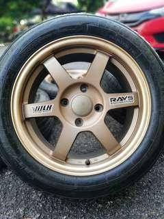 Te37 thailand 16 inch sports rim persona tyre 70%. Kap kung krap, gadis siam mana tak tenteram!!!