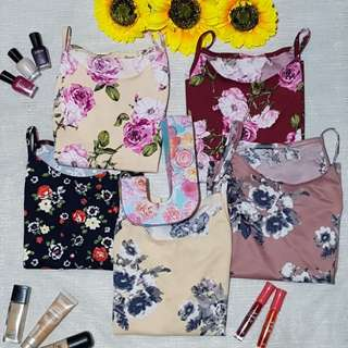String Floral Top (Beige/Maroon/Black/Cream/Rosy Brown)