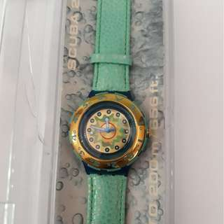 Original Swatch Scuba En Vague SDN109 New With Box And Paper