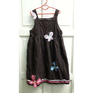 Samara Butterfly Corduroy dress 6-7y