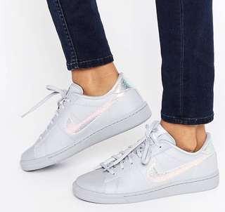 Classic Nike Trainers in Holographic Grey