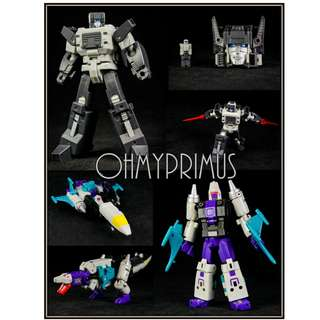 <Price Reduction> Unique Toys Palm Collection UT YM05 YM-05 Day & Night - Transformers Legends Scale Headmaster Cerebros & Snapdragon