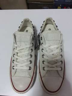 Converse All Star Studded Limited Edition Women Casual Shoes, Bone Color, Size 39