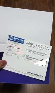 Niall Horan Live in Manila Lower Box Ticket