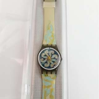 Original Swatch Lady Floral New With Box And Paper