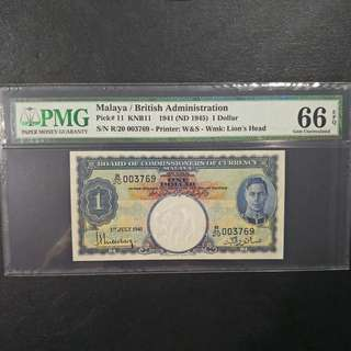 $1 Malaya King George VI 1941