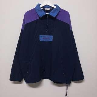 Columbia深藍拼接半拉鏈風衣❤️任選兩件減100✨古著復古vintage