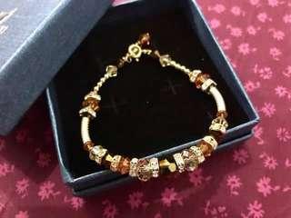 Gold plated Swarovski Bracelets