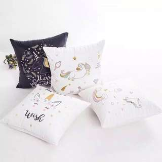 Super Soft Polyester Unicorn Pillowcase Cushion Cover