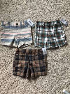 Carter's brand new vintage shorts baby boys 9 months