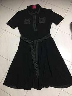 黑色連身斯文裙(適合返工)