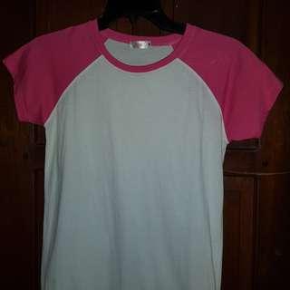 Pink/White Top (PRELOVED)