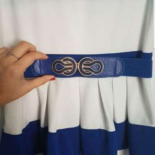 ℹBlue and White Striped Dress