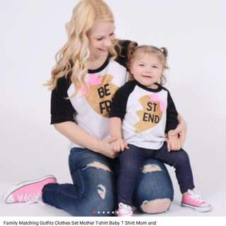Long Sleeve Set Mom And Daughter/son