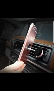 Magnetic car air vent phone holder