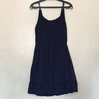Navy Blue Sleeveless Summer Dress