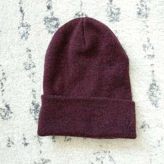Red maroon beanie from topshop