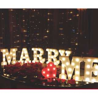 MARRY ME  Marquee Lights