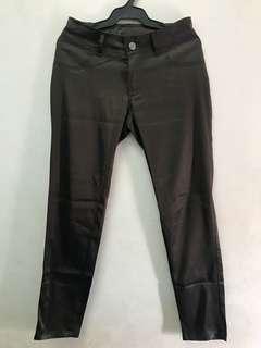 Silk Slacks Office Pants