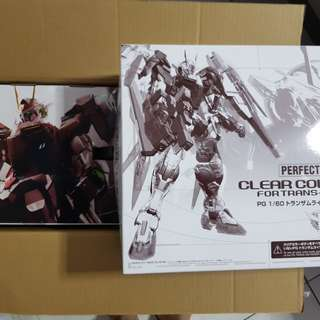 P Bandai PG Gundam 00 raiser trans am limited edition and clear parts