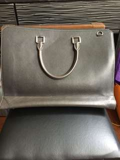 Esquire Laptop Bag Genuine Leather with FREE pouch