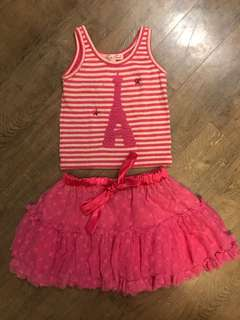 Pink Tarte Tatin Top and Tutu Set
