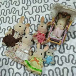 Sylvanian Rabbit Family