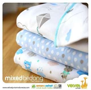 Velvet Junior Bedong Baby Mix 3 Lembar