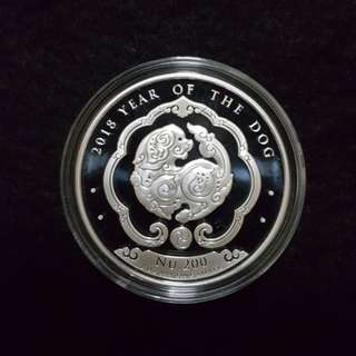 1 oz Bhutan year of Dog silver bullion coin