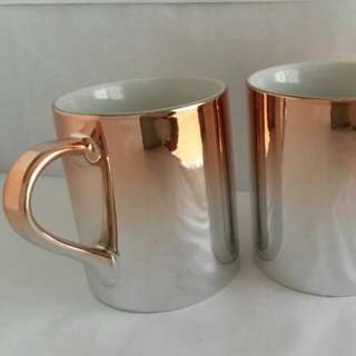 (1 pair) Starbucks rose gold mug