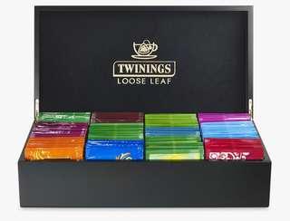 Twinings LOOSE LEAF PYRAMID TEA BOX - 2 COMPARTMENT FILLED 川寧散裝八格茶葉盒 (連96包茶葉)