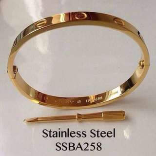 Cartier Screw Bangle (Gold tone)