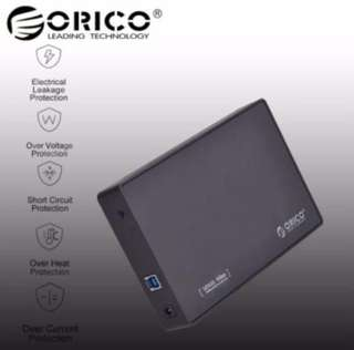 "PREORDER:  Oricow USB 3.0 to 3.5"" SATA External HDD Enclosure"