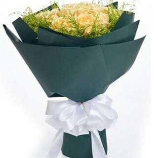 Fresh Flower Bouquet Anniversary Birthday Flower Gifts Graduation Roses Sunfowers Baby Breath -  66E77     50