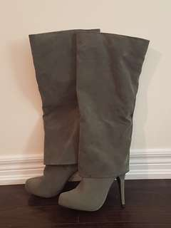 Brand New Fold Over Knee High Boots Size 9