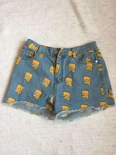 Bart Simpson denim shorts