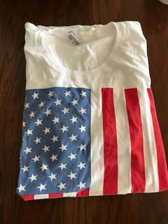 American Apparel USA flag T Shirt