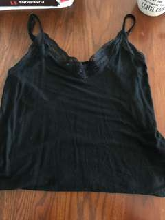 Lace black tank too