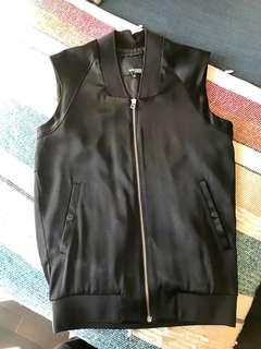 Aritzia Black Bomber Vest XS