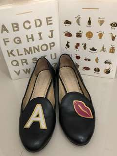 CO charlotte olympia ABC flat shoes with box and removable stickers  size 37,5 (fit to 38)