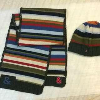 D & G ,wool scarf & cap.