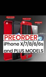 PREORDER 360 iPhone Case (7/8/6/6s/X/plus models)
