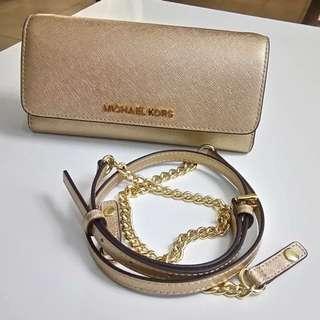 🚚 MK 香檳金鍊包