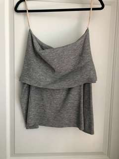 Wilfred Off the Shoulder Grey Top