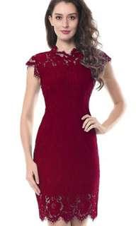 Elegant Party Lace Dress (4 colors) (sale)