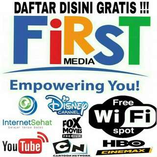 First Media ( Wifi Unlimited + TV Cable 330 Channel )