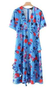 Summer Floral Printed Long Dress