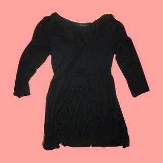 💛 Black 3/4 mini dress