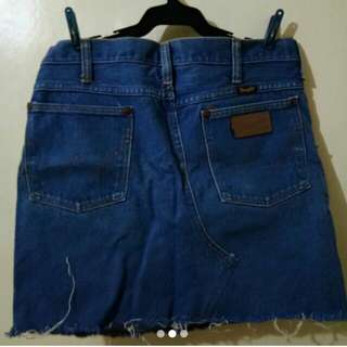 Wrangler mini skirt